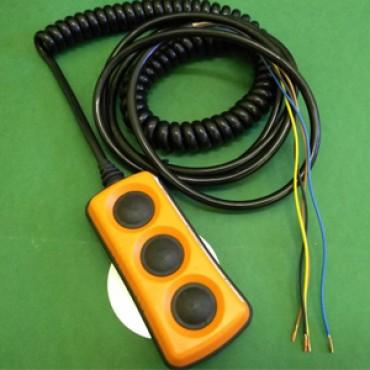Пульт управления 3-х кнопочный со спиральным кабелем L=2m  ZEPRO