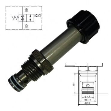 Клапан DA Ø15,0mm M20x1,5 (под катушку 18x40)